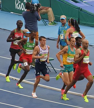 Djibouti at the 2016 Summer Olympics - Souleiman during the 1500 m in Rio.