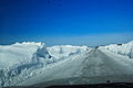 Road after work of screw rotor snowplow based on URAL.JPG