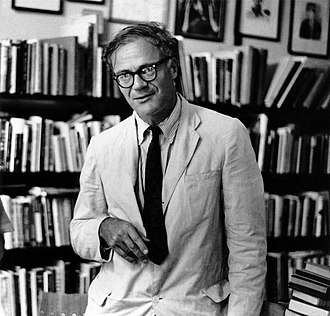 Robert Lowell - Lowell at the Grolier Poetry Bookshop in Harvard Square, 1965. Photo by Elsa Dorfman