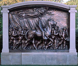 54th Massachusetts Infantry Regiment - Memorial to Robert Gould Shaw and the 54th Massachusetts Volunteer Infantry Regiment by Augustus Saint-Gaudens