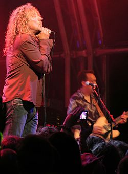 Robert Plant and the Strange Sensation performing at The Green Man Festival, August 2007.jpg