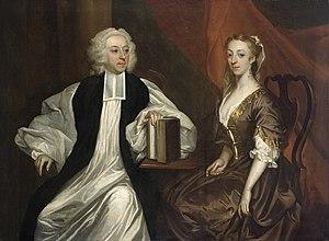 Robert Clayton (bishop) - Portrait c.1740 of Robert and Katherine Clayton, by James Latham.