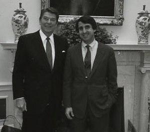 Richard Bond (RNC) - Image: Ronald Reagan with Richard Bond 1982