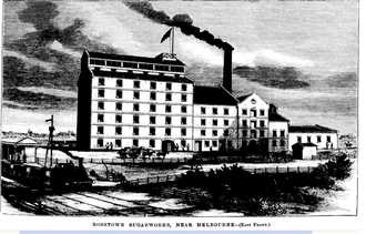 """William Murray Ross - The sugar beet processing mill built as part of """"the Rosstown Project""""."""