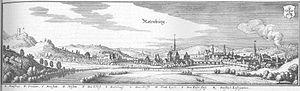 Rotenburg an der Fulda - Rotenburg in an engraving by Matthäus Merian from 1655