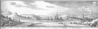 Rotenburg an der Fulda - Rotenburg in an engraving by Matthäus Merian from 1655