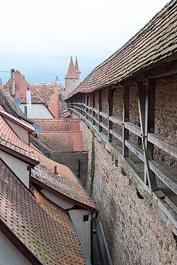 Rothenburg ob der Tauber, Stadtbefestigung, Spitalgasse 41 bis 55, Stadtmauer-20151230-001.jpg