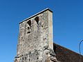 Rouffignac-Saint-Cernin église St Cernin clocher-mur.JPG