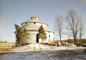 Fayette County, Indiana - A round barn in Fayette County