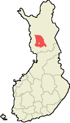 Rovaniemen maalaiskunta - Location on Finnish map