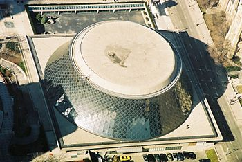 Roy Thomson Hall, Aerial from CN tower, winter...