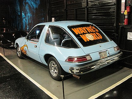 Wayne's World AMC Pacer clone at Rusty's TV & Movie Car Museum in Jackson, Tennessee Rusty-s TV and Movie Car Museum Jackson TN 020.jpg