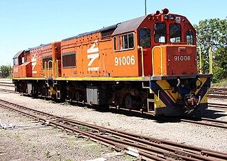 South African Class 91-000 - Image: SAR Class 91 000 91 006