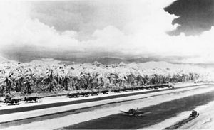 Bougainville counterattack - US Marine Corps fighters and bombers at the airfield near Cape Torokina during December 1943