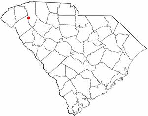 Golden Grove, South Carolina - Image: SC Map doton Golden Grove