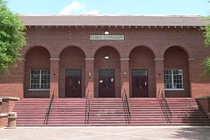 National Register of Historic Places listings in Orangeburg County, South Carolina - Image: SCSU Dukes Gym SW entrance 1