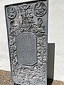 SEM KIRKE nær Jarlsberg hovedgård i Tønsberg, Norway 2021-06-13 Gravplate gravminne støpejern (cast iron grave plate crucifix) Hinrich Bul Soeren Bierke 1670-1717 IMG 3796.jpg