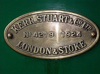 Kerr, Stuart and Company - Image: SKLR Melior plate
