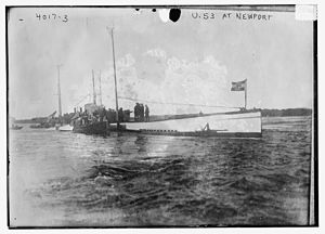 SM U-53 - SM U-53 at Newport, Rhode Island in 1916