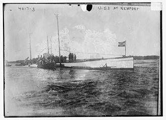 SM U-53 - SM U-53 at Newport, Rhode Island in 1916