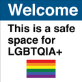 Safe space for lgbtqia with flag by mikesafetysignsupply.png