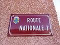 Saint-Loup - Plaque route nationale 7 (mars 2019).jpg