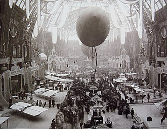 Paris Air Show - The first Salon de la locomotion aérienne, 1909, Grand Palais, Paris.