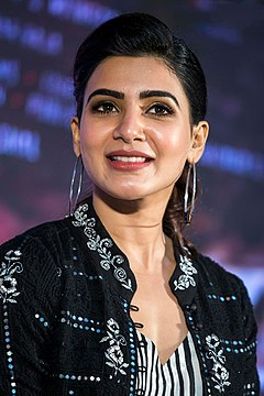Samantha At The Irumbu Thirai Trailer Launch.jpg