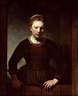 Dutch door - Woman at a Dutch Door, 1645, by Samuel van Hoogstraten