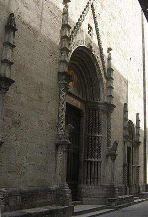 San Francesco, Ascoli Piceno - Main facade and portals