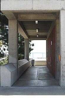 San Diego City College With San Diego Coronado Bridge In The Background.