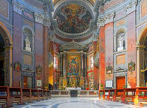 San Giacomo in Augusta - Image: San Giacomo in Augusta (Rome) Interior