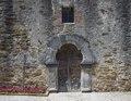 "Sanctuary entrance at Mission San Francisco de la Espada, better known today simply as ""Mission Espada,"" in San Antonio, Texas LCCN2014632658.tif"