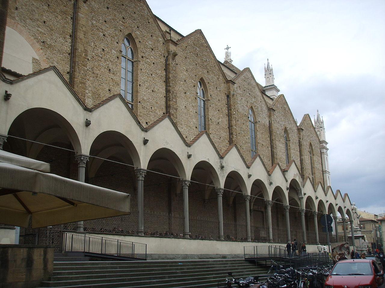 File santa croce portico laterale su via san giuseppe jpg for Disegni del portico laterale