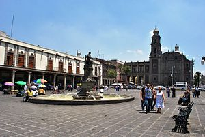 Santo Domingo (Mexico City) - Plaza San Domingo, Portal de Evangelistas and Church of Santo Domingo
