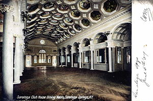 Canfield Casino and Congress Park - Old postcard of dining room