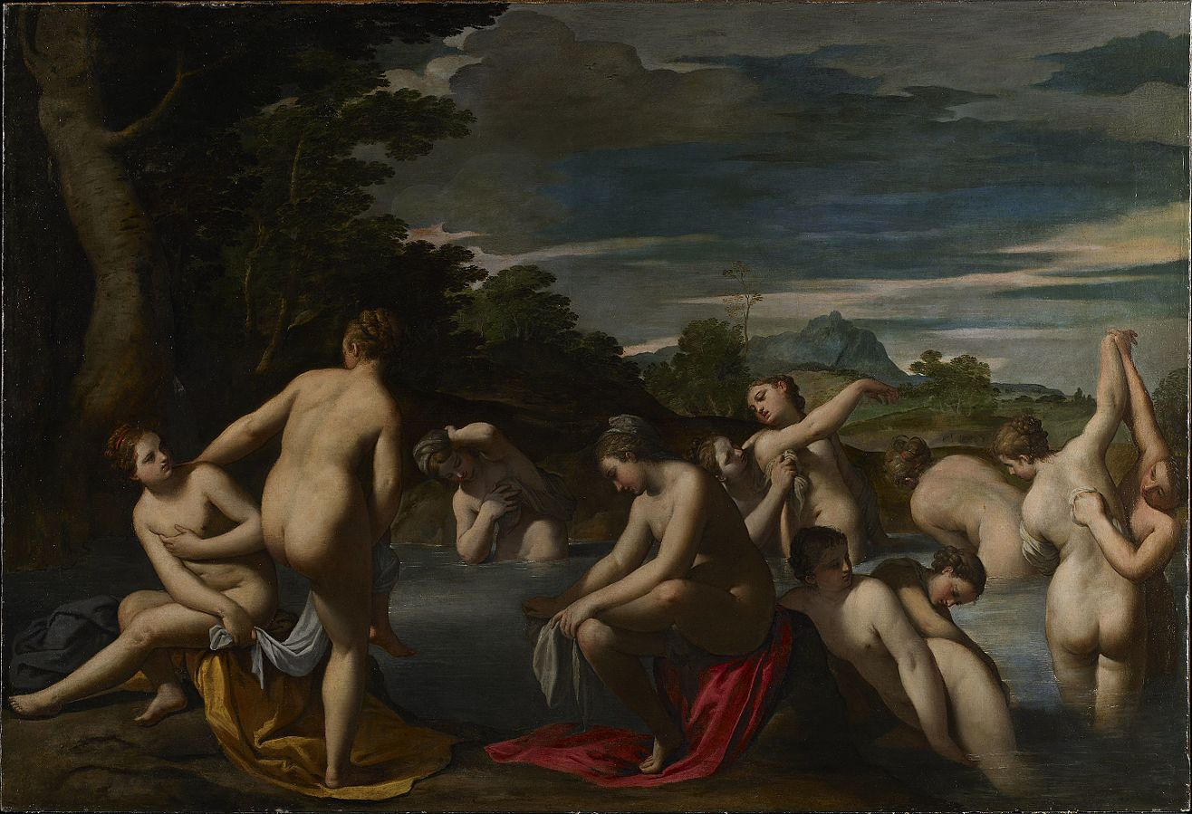 Nymphs at the Bath