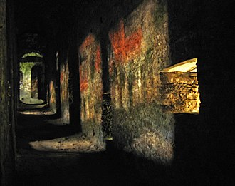 Projector - Ancient camera obscura effect caused by balistrarias in the Castelgrande in Bellinzona