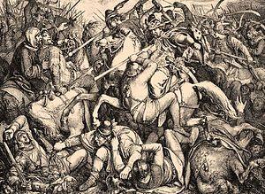 Battle of Pressburg - Peter Johann Nepomuk Geiger: Schlacht bei Pressburg (1850)