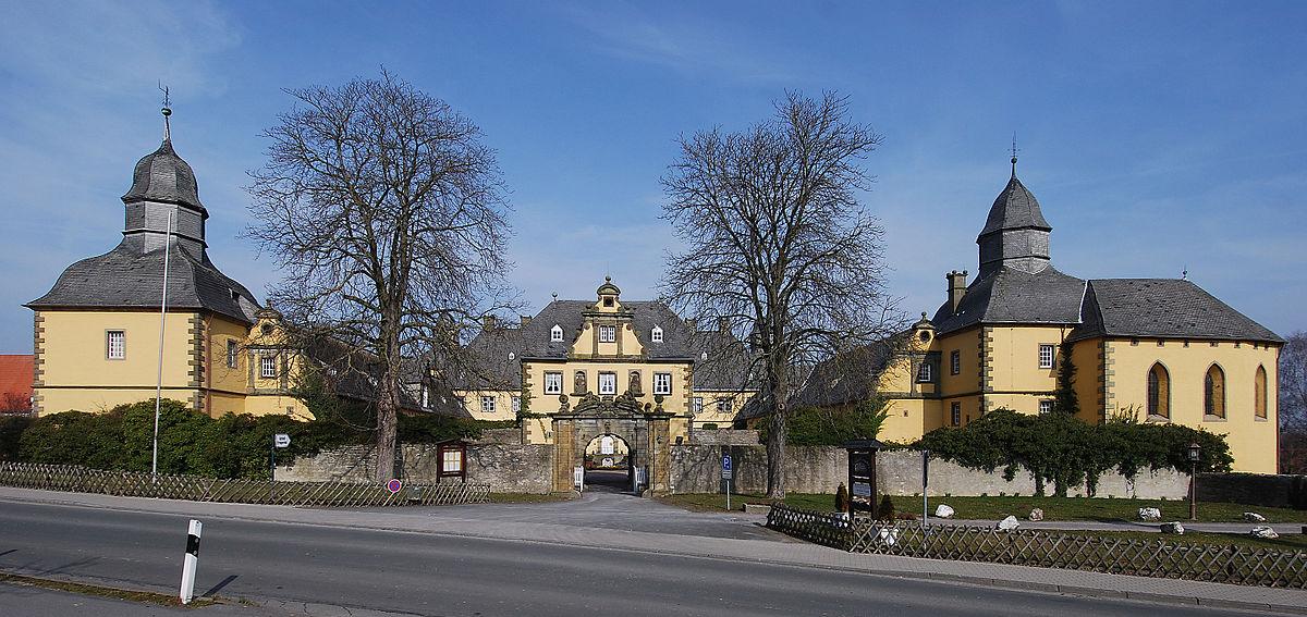 Schloss Eringerfeld an der Steinhauser Straße im Stadtteil Eringerfeld der Stadt Geseke im Kreis Soest in Nordrhein-Westfalen E.JPG