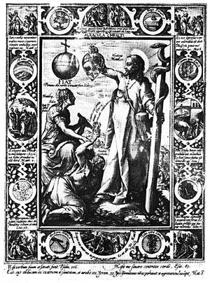 Benedictus van Haeften - Illustration from Schola Cordis, written c.1640, 1823 edition.