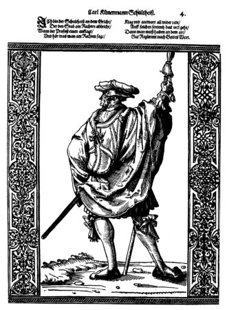 Schultheiß - A Schultheiß in the 16th century