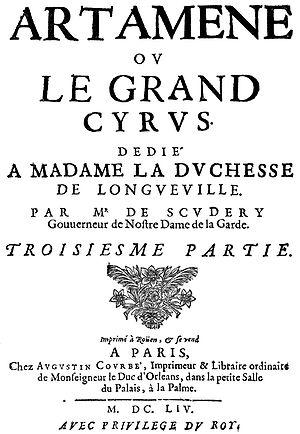 Artamène - Title page, part 3