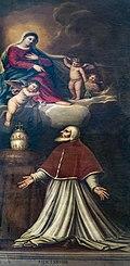 Scuola Grande dei Carmini (Venice) - Sala capitolare - Papa Giovanni XXII riceve lo scapolare - Amedeo Enz.jpg