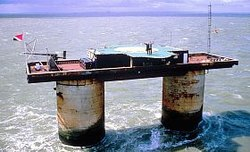 File photo of the Principality of Sealand, a micronation located at an abandoned World War II sea fort in the North Sea. Image: Bureau of Internal Affairs Principality of Sealand.