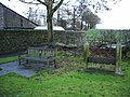 Seat and stocks, West Marton - geograph.org.uk - 623646.jpg