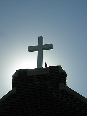 Cross atop Chinese Southern Baptist Church (al...