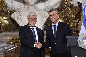 Argentina–Chile relations - Presidents Sebastián Piñera of Chile and Mauricio Macri of Argentina.