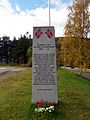 Second World War memorial stone Rognan 2013.jpg