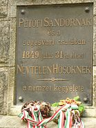 Segesvári-obeliszk-oldalán